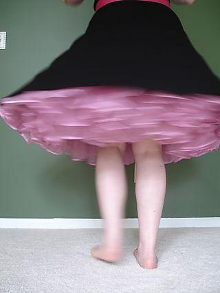 Pink Net Underskirt 032