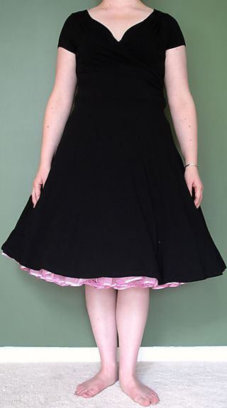 Black Dress - With Underskirt