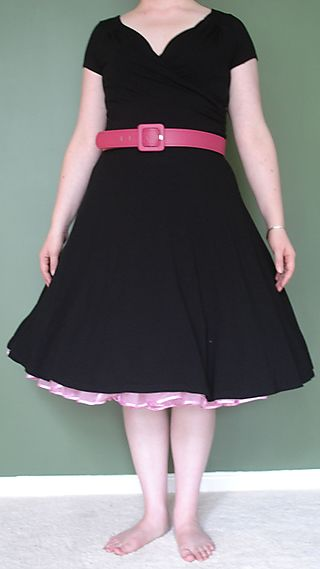 Black Dress - With Underskirt and Belt