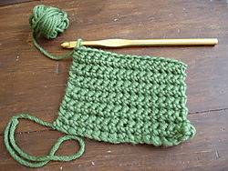 Green Crocheting 001